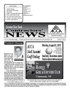 Newsletter -  July 2012