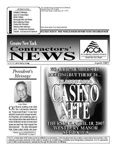 Newsletter - April 2007