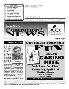 Newsletter - April 2009