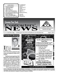 Newsletter - April 2011