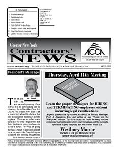 Newsletter - April 2013