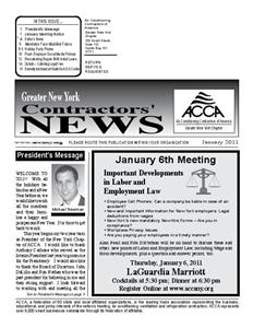 Newsletter - January 2011