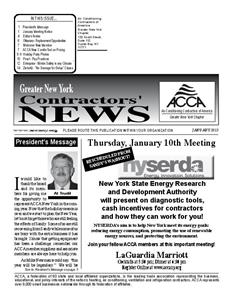 Newsletter - January 2013