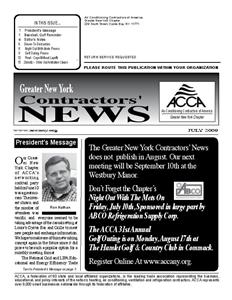 Newsletter - July 2009