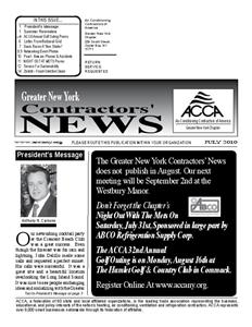 Newsletter - July 2010