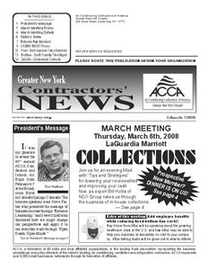 Newsletter - MARCH 2008