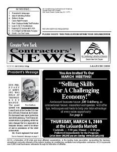 Newsletter - March 2009