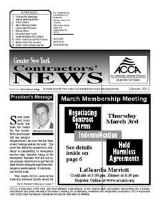 Newsletter - March 2011