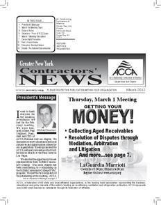 Newsletter - March 2012