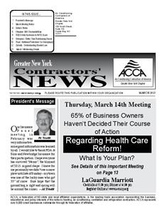 Newsletter - March 2013