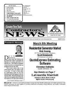 Newsletter - March 2014