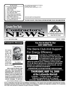 Newsletter - May 2009