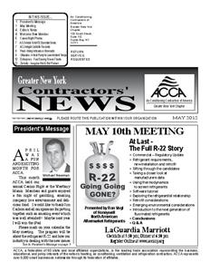 Newsletter - May 2012
