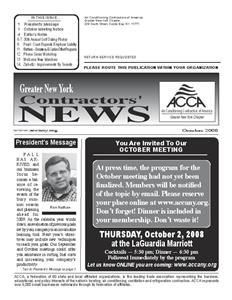 Newsletter - October 2008