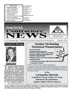 Newsletter - October 2010