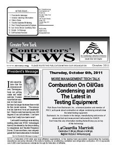 Newsletter - October 2011