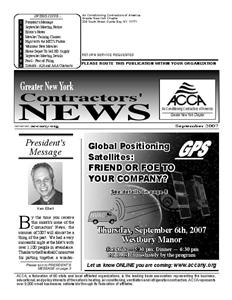 Newsletter - September 2007