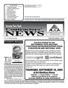 Newsletter - September 2009
