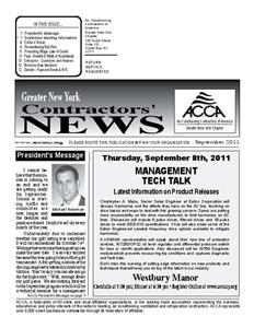 Newsletter - September 2011