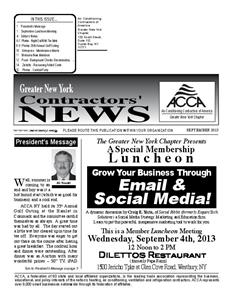 Newsletter - September 2013
