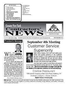 Newsletter - September 2014