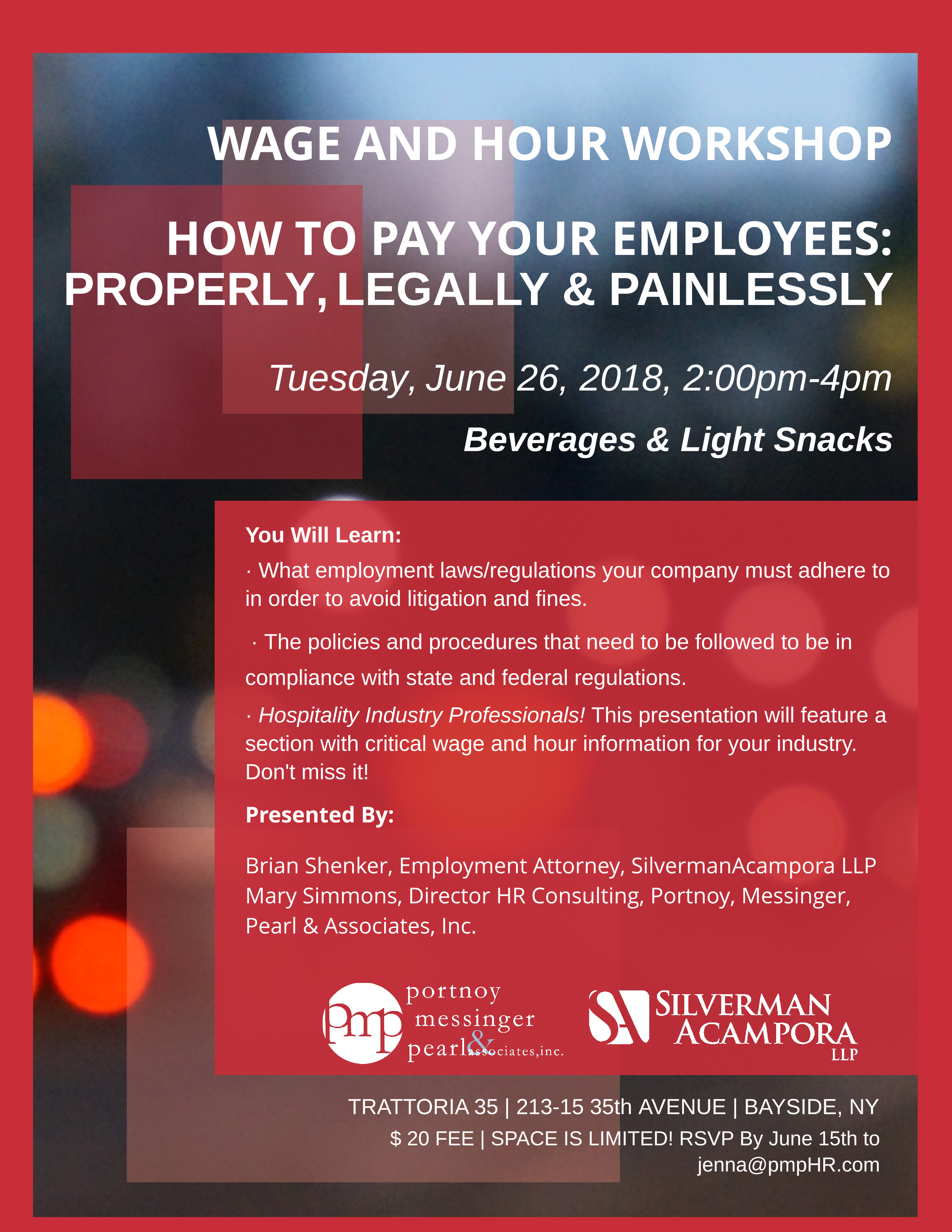 MACC News: Wage and Hour Workshop - Presented by Portnoy