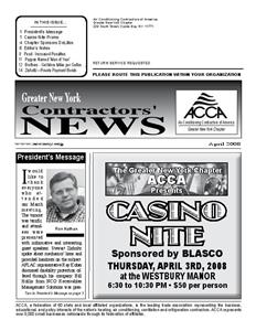 Newsletter - April 2008