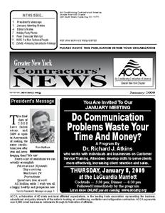 Newsletter - January 2009