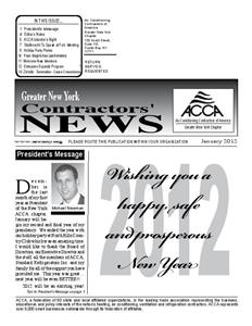 Newsletter - January 2012