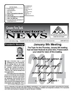 Newsletter - January 2014