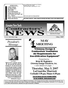 Newsletter - May 2007
