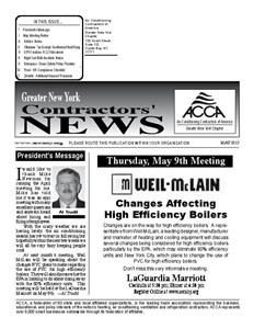 Newsletter - May 2013