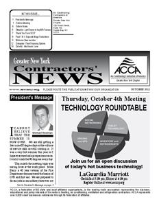 Newsletter - October 2012