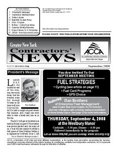 Newsletter - SEPTEMBER 2008