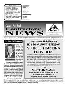 Newsletter - September 2010